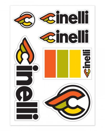 Cinelli Italo 79 sticker pack white