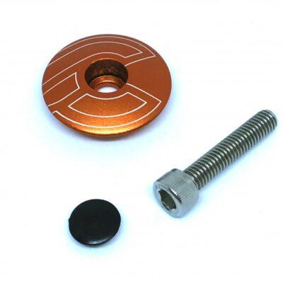 cinelli-top-cap-orange-with-bolt-plug