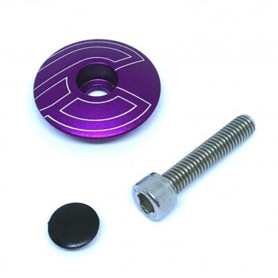 cinelli-top-cap-purple-with-bolt-plug