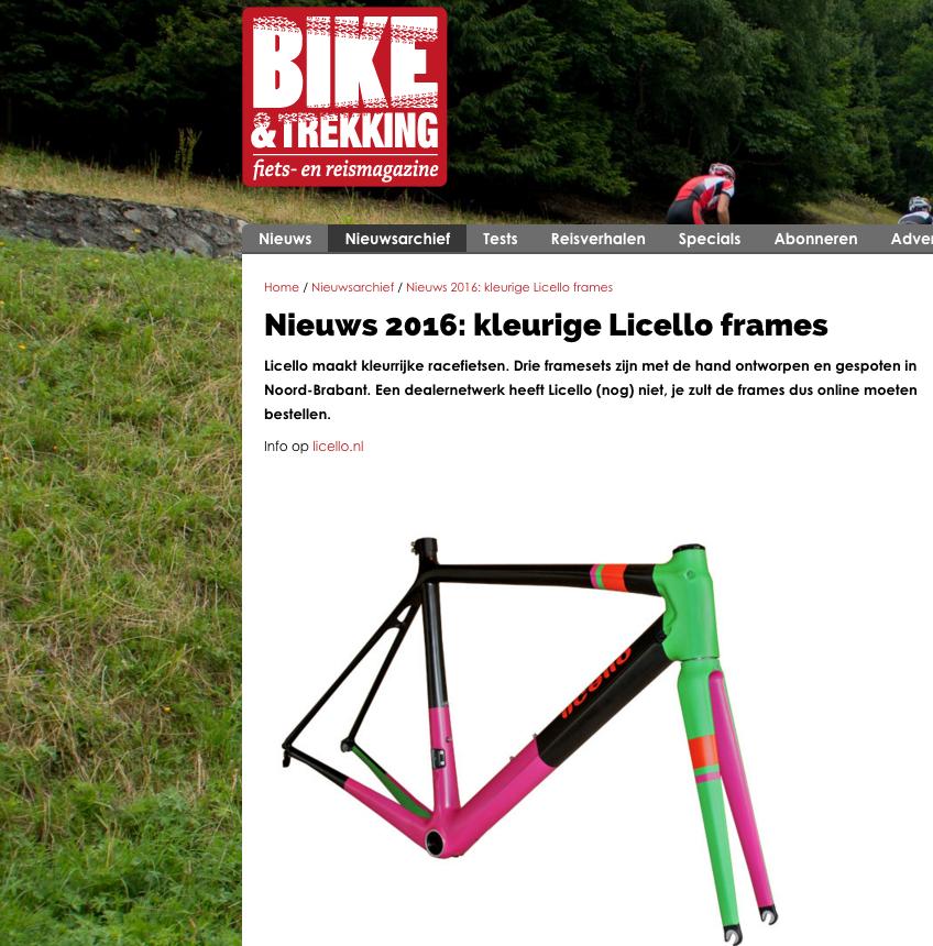 Licello op Bike & Trekking