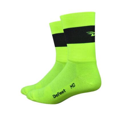 Aireator 5 Team DeFeet Hi-Vis geel zwart logo