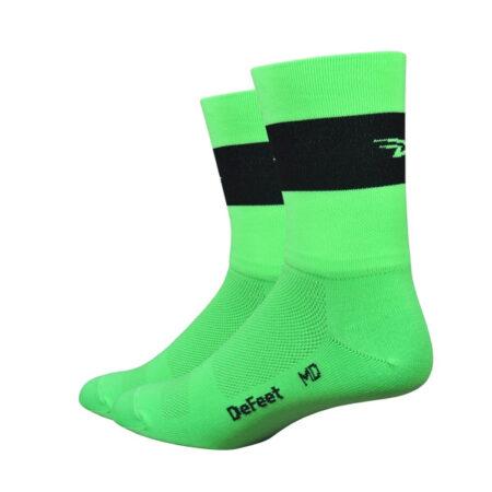 Aireator 5 Team DeFeet Hi-Vis groen zwart logo