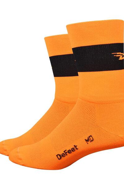 Aireator 5 Team DeFeet Hi-Vis oranje zwart logo
