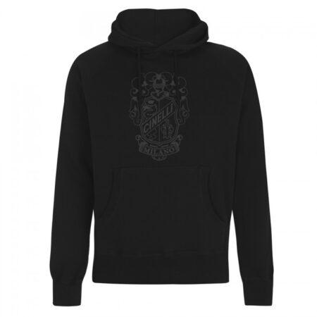 cinelli crest black hoodie sweatshirt