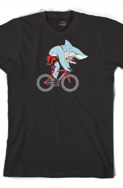 Cinelli sam turner shark t-shirt zwart
