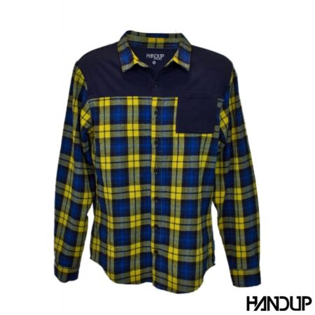 Handup flannel shirt geel