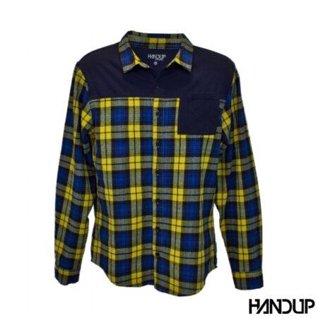 Handup flannel shirt geel