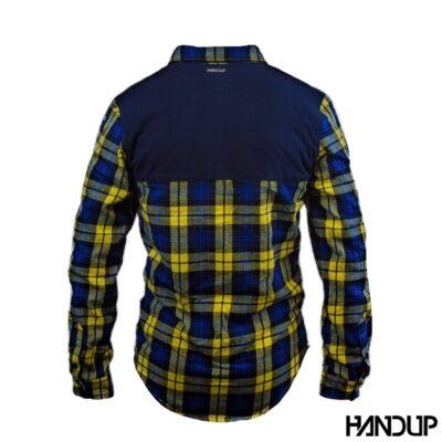 Handup flannel shirt geel achter