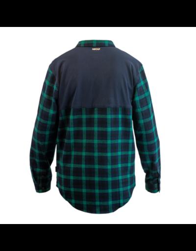 handup-flextop-flannel-green-navy back