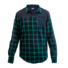 handup-flextop-flannel-green-navy front